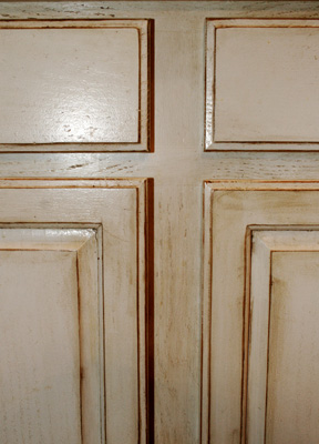diy antique glazing cabinets