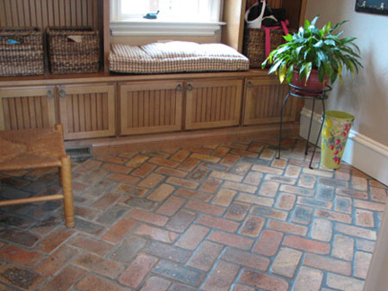 I Ve Seen Brick Floor Tiles At Lowes And Thought Liked Them My Husband D He They Were Fake Looking Now M Not Sure How Feel About
