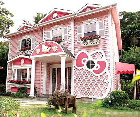 This Hello Kitty house was making the blog rounds a year ago,