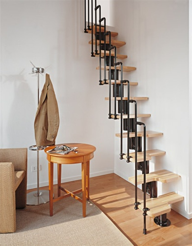 Stairs in tight spaces - Tight space staircase design ...
