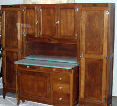 ... Isnu0027t Dirt Cheap Flea Market Price, But Itu0027s Not Easy To Find A Hoosier  With Matching Side Cupboards. It Retails For $3975 At An Online Antiques  Shop.