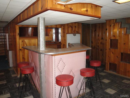 this cute pink bar was in a home for sale in st louise mo entire