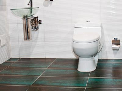 Painted floors for Paint vinyl floor bathroom